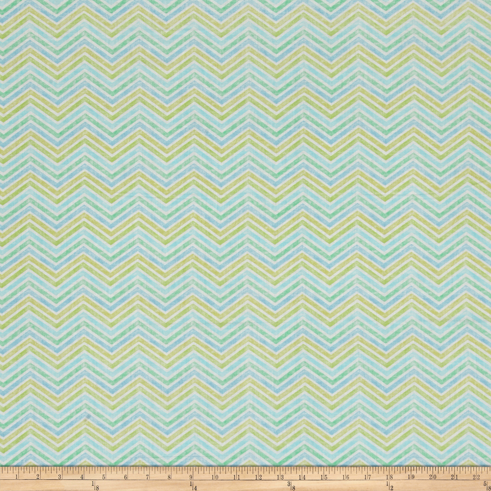 QT Fabrics Delaney Chevron Cream