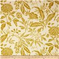 Georgette Home Decor Jenna Floral Cream/Chartreuse