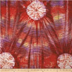 Indian Batik Tie Dye Skin Purple/Orange