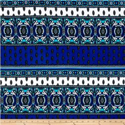 Double Knit Medallion Cobalt