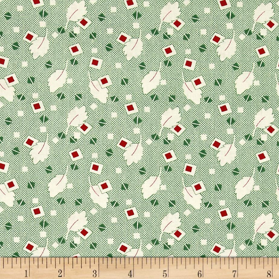 Greetings Leaves & Boxes Cream/Green
