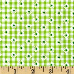 Woven 1/8'' Daisy Gingham Lime