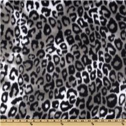 Novelty Fleece Cheetah Serval Grey