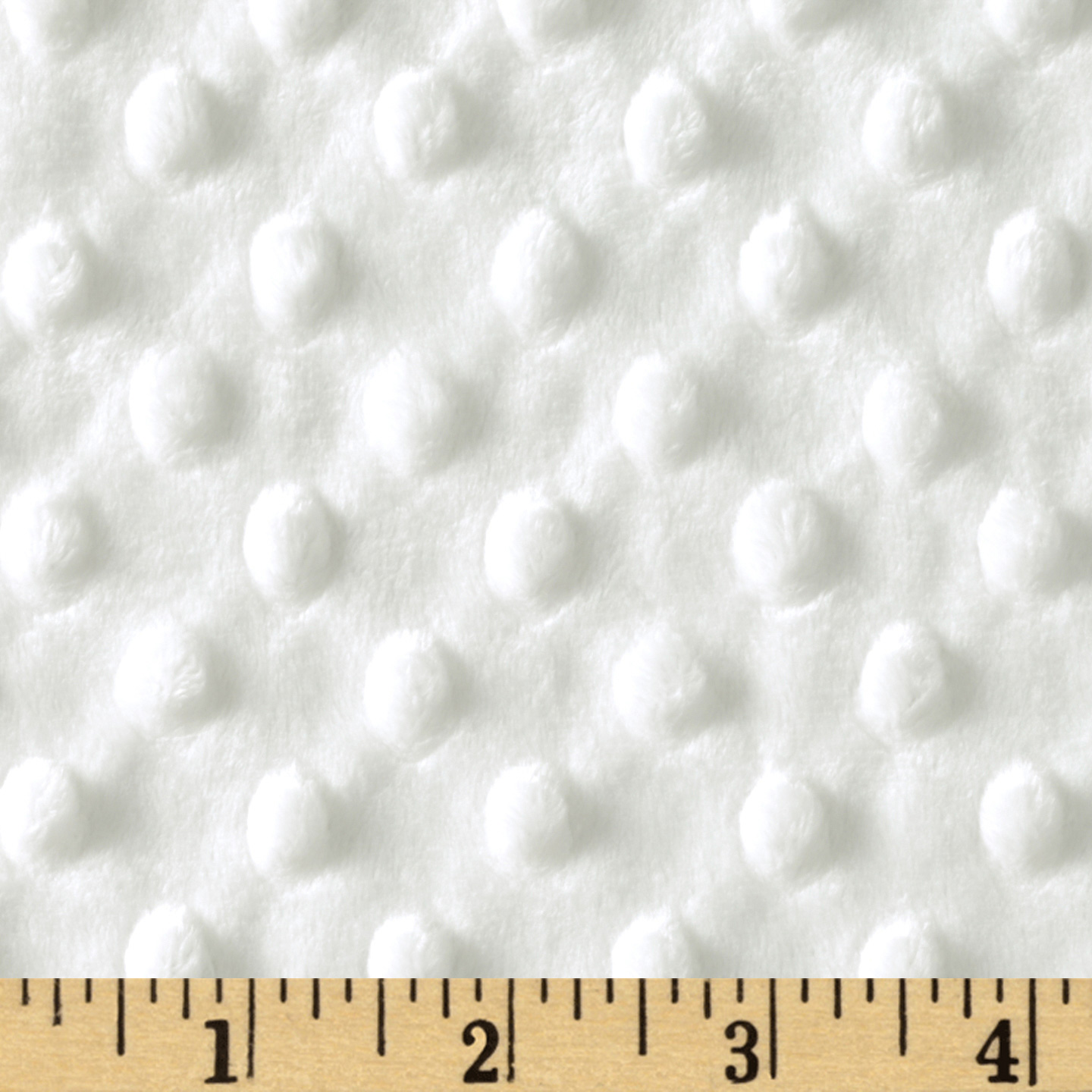 Minky Cuddle Dimple Dot White Fabric