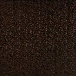 Luxury Faux Leather Embossed Floral Bronze