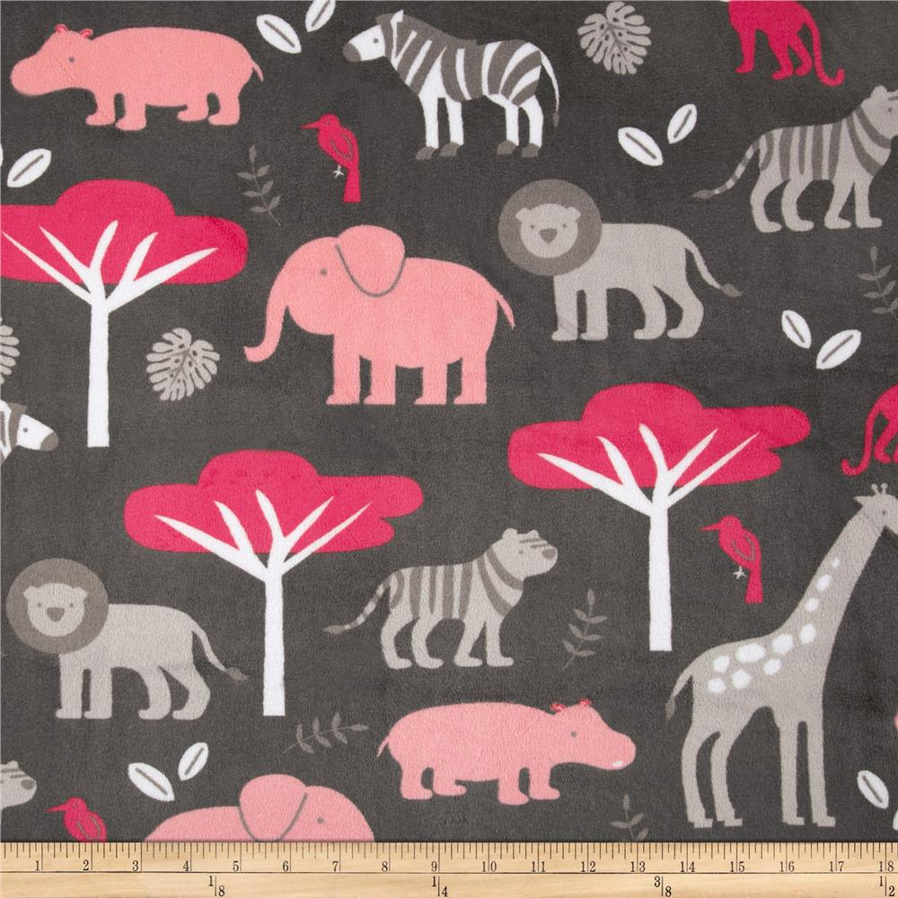 Shannon Minky Cuddle Jungle Tales Watermelon
