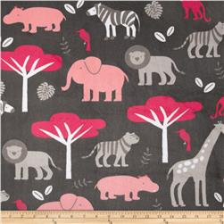 Minky Cuddle Jungle Tales Watermelon Fabric