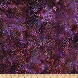 Island Batik Dancing in the Moonlight Gold/Fuchsia Pineapple