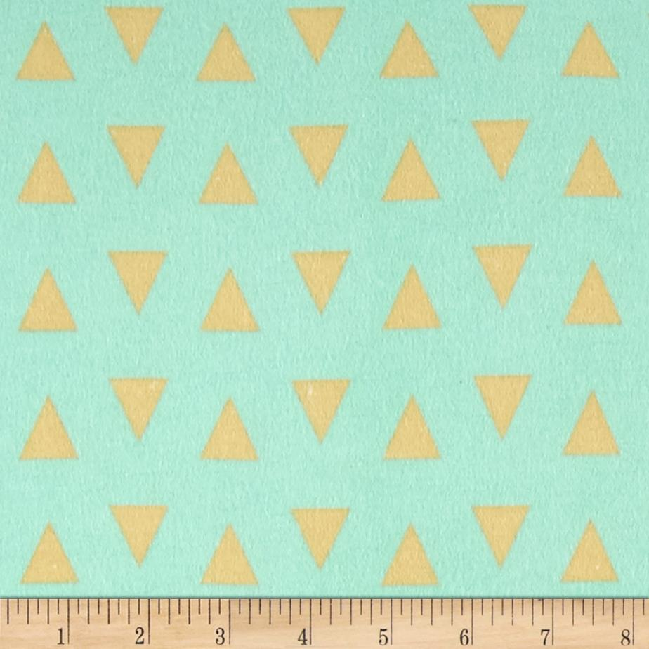 Comfy Flannel Triangles Mint