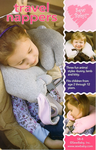 Image of SewBaby! Easy Travel Nappers Pillows Pattern