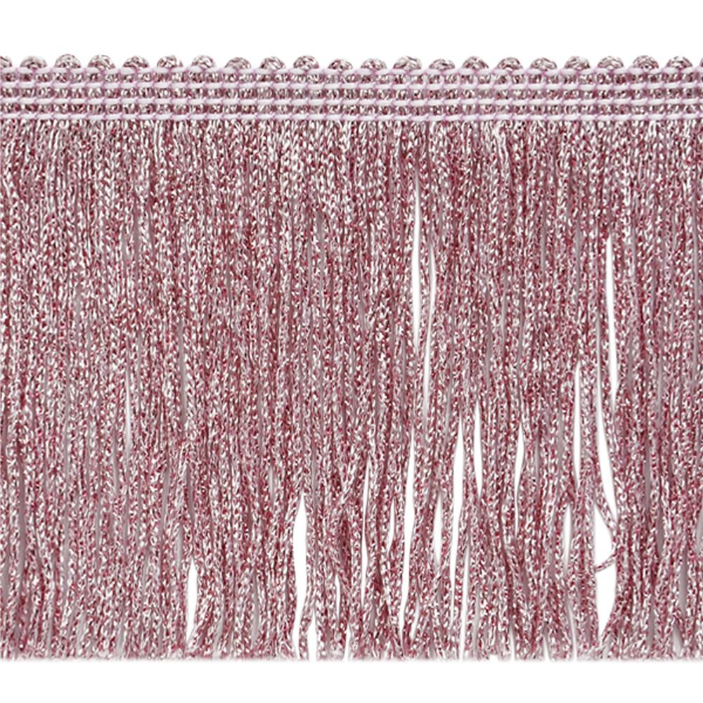 "4"" Metallic Chainette Fringe Trim Pink"