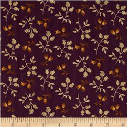 Prairie Home and Companions Pin Stripe Floral Plum