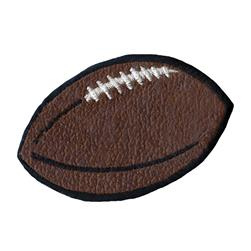 Wrights Iron On Applique Brown Leather Football