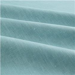 European Linen Fabric Mosaic Blue