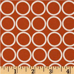 Metro Living Circles Orange Fabric