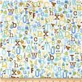 Riley Blake Snips & Snails Alphabet White