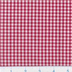 Woven 1/8'' Cotton Gingham Red