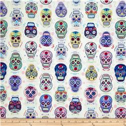 Folk Art Skulls White