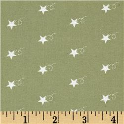 Moda Mistletoe Lane Star Trail Sage