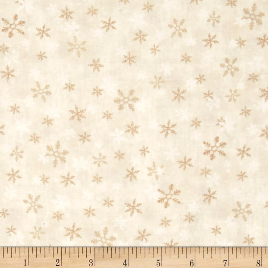 Home For The Holidays Snowflake Beige