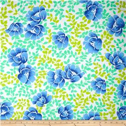 Water Color Floral Fun Floral Activewear Blue