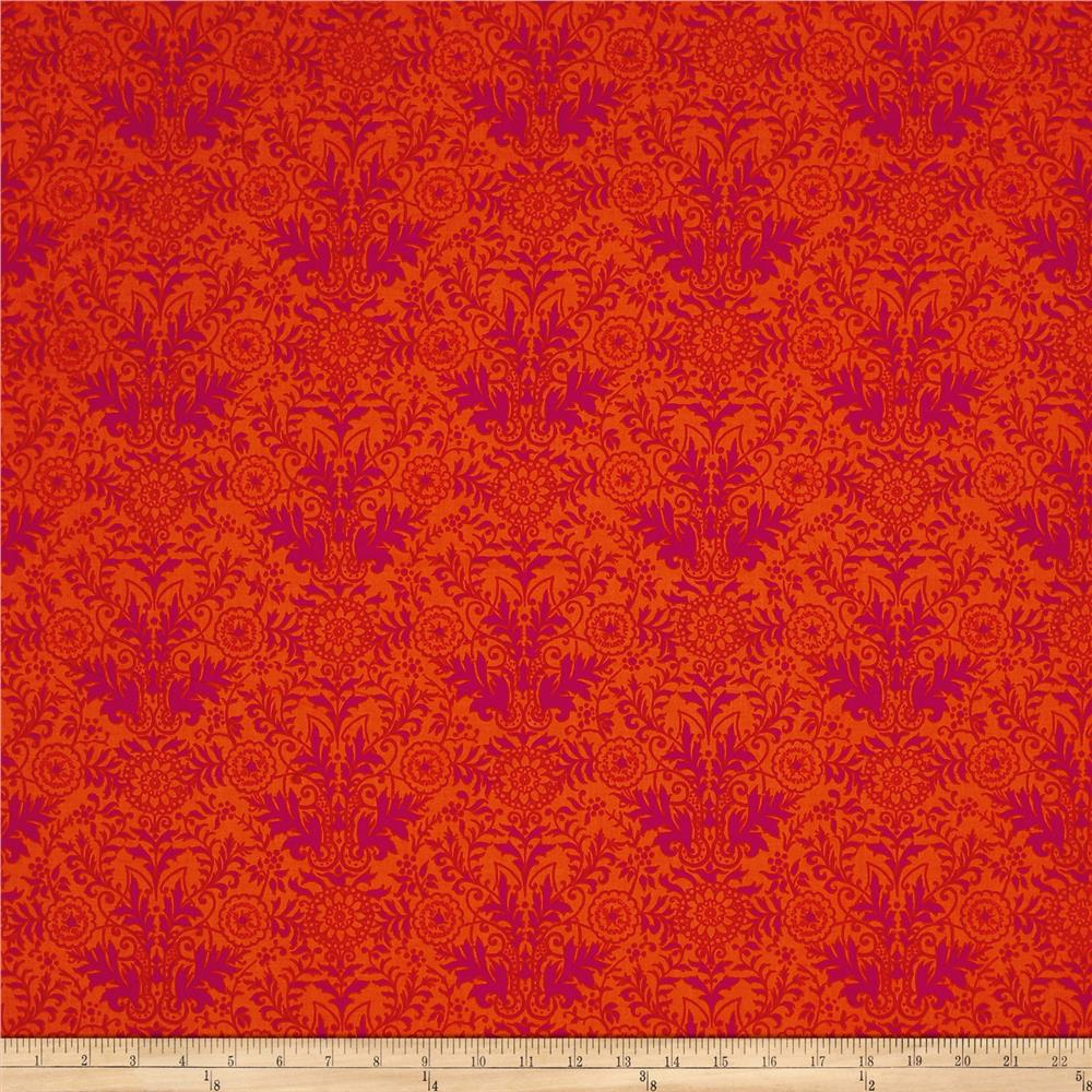 Ink & Arrow Paloma Damask Orange/Fuchsia