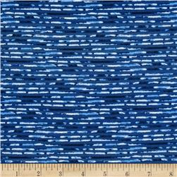 Kaufman Microlife Textures Digital Prints Hash Stripe Blue
