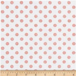 Contempo Owls And Pals Dot Weave Rose