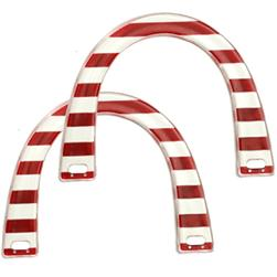 Red/White Plastic Novelty Purse Handle 5-3/4''X4-1/2'' U-Shaped -