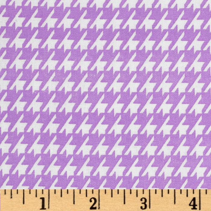 Dots and More Houndstooth Lavender/White