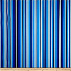 Terrasol Indoor/Outdoor Hombre Stripe Indigo Fabric
