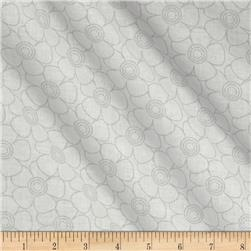 "108"" Contempo Quilt Backing Floral Grey/White"
