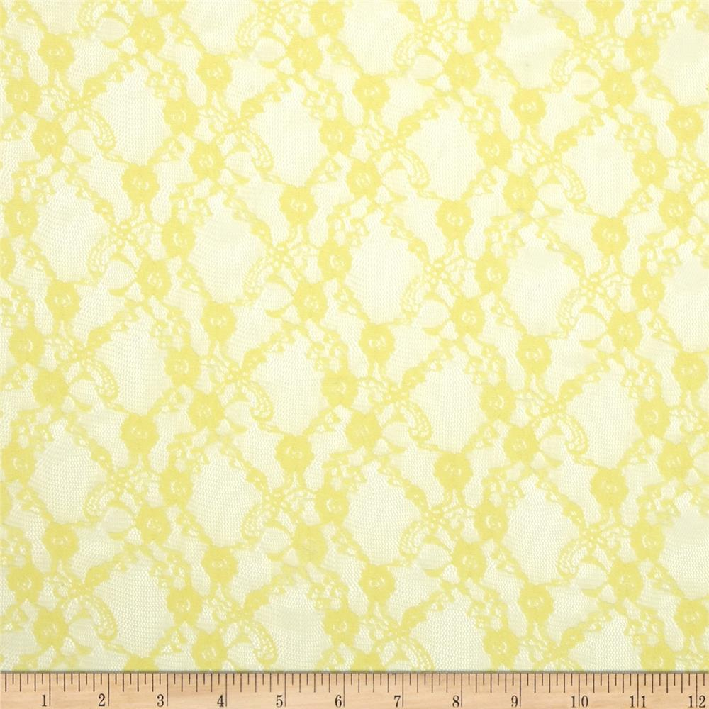 Floral Stretch Lace Yellow