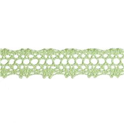 "5/8"" Crochet Lace Trim Light Celery"