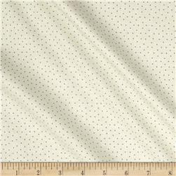 Blueberry Buckle Tiny Polka Dots Light Cream