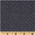 Oriental Traditions Metallic Trellis Weave Navy