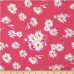 Soft Jersey Knit Floral Pink/White/Yellow