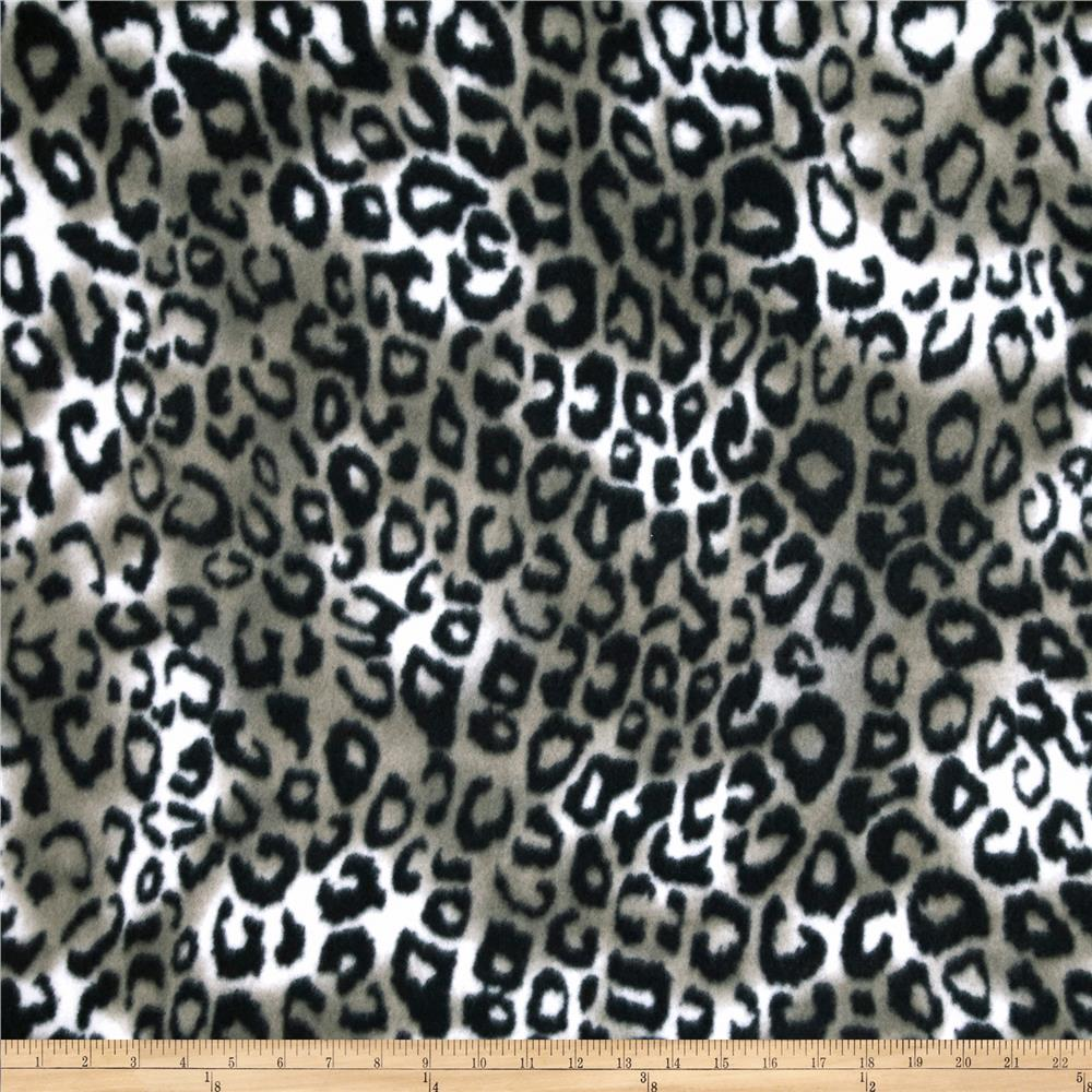 Printed Fleece Animal Print Grey