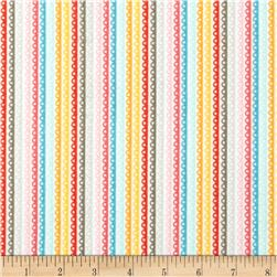 Riley Blake Girl Crazy Flannel Stripe Yellow Fabric