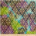 Indian Batik Montego Bay Metallic Medallion Purple/Teal