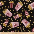 Timless Treasures Movies Popcorn Black
