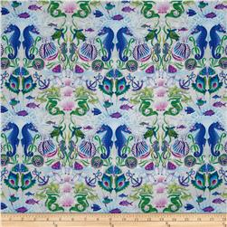 Treasures of Nature Under the Sea Seahorses Cream/Purple
