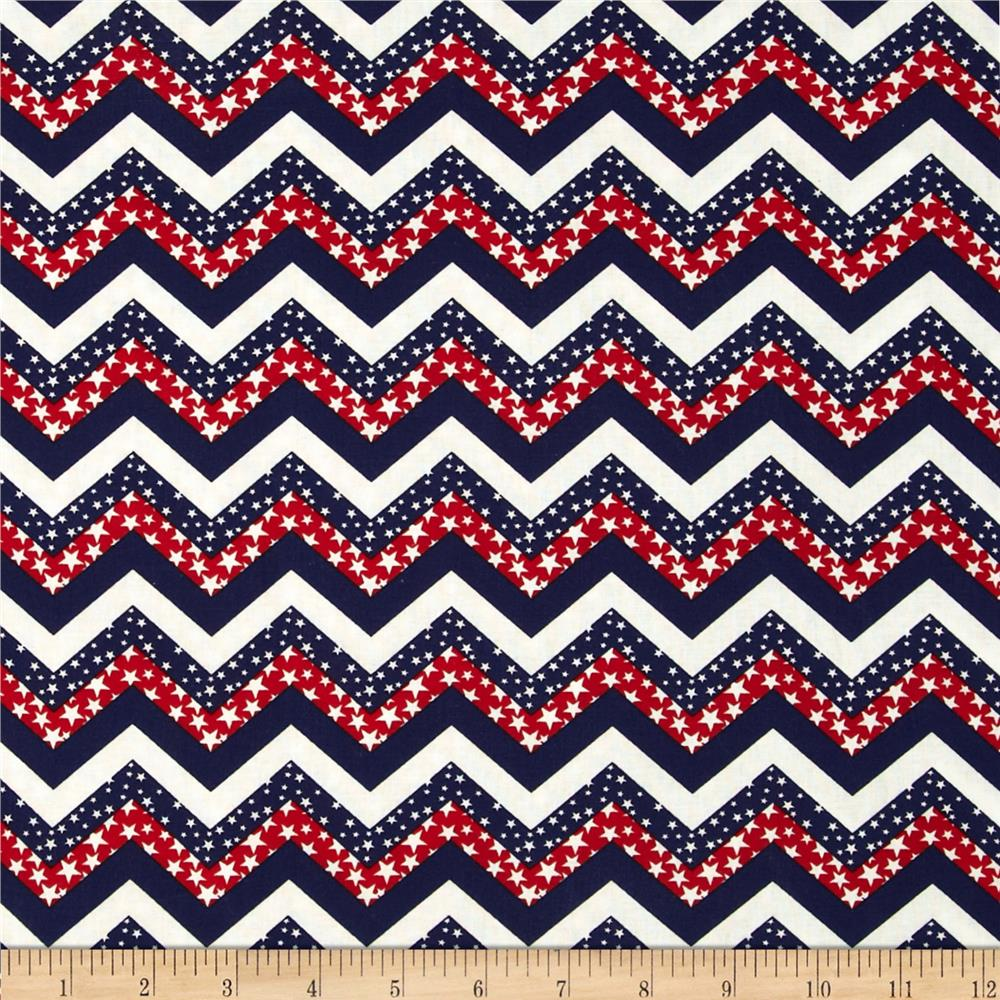 Made in the USA Chevron & Stars Red, White, Blue - Discount ...