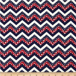 Made in the USA Chevron & Stars Red, White, Blue
