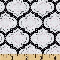 Madison Geometric Medallions Pink Fabric