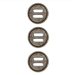 "Dill Buttons 11/16"" Full Metal Button Antique Tin"