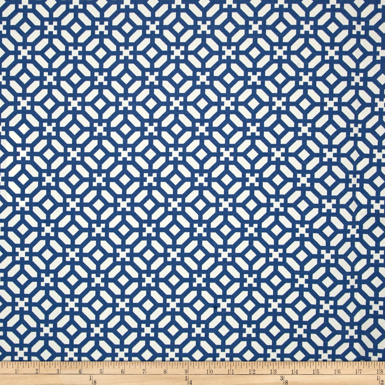 Waverly Sun N Shade In The Frame Sapphire Fabric by Waverly in USA