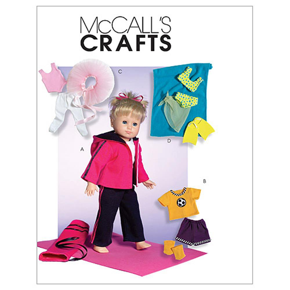 "McCall's 18"" Doll Clothes Pattern M4896 Size OSZ"