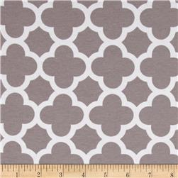 Riley Blake Quatrefoil Knit Grey
