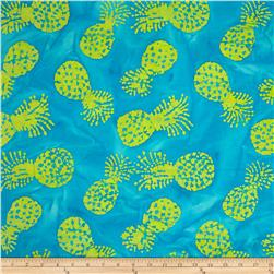 Indian Batik Kolina Fields Pineapple Aqua/Yellow